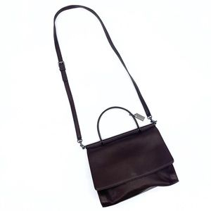 Vintage Brown Leather Coach Crossbody